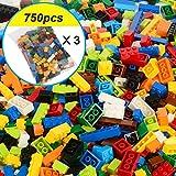 Nologo KLSK 250-1000 Bausteine Stadt DIY kreative Baustein Bulk Modell Zeichen und alle kompatibeles Lernspielzeug (Farbe : Boy 750pcs)
