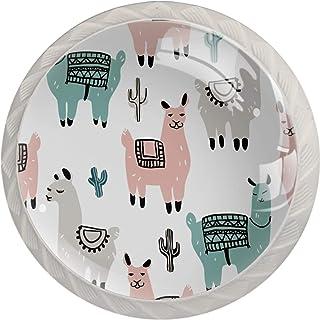 Boutons de tiroir Poignées d'armoire rondes Pull pour bureau à domicile cuisine commode armoire décorer,Alpaga Amérique du...
