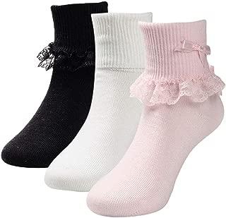 kids black frilly socks