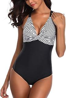 8aea8fe119c87 Riou Badeanzug Damen Große Größen Bauchweg Push Up Sexy Bikini Set  Rückenfrei Bandeau Bademode Für Sommer