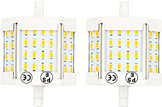 Bonlux 10W Double Ended J78 R7s LED Light 78mm (3'') 120V Warm White 3000K LED R7s Floodlight Bulb 100W Halogen Replacement Bulb (Pack of 2)