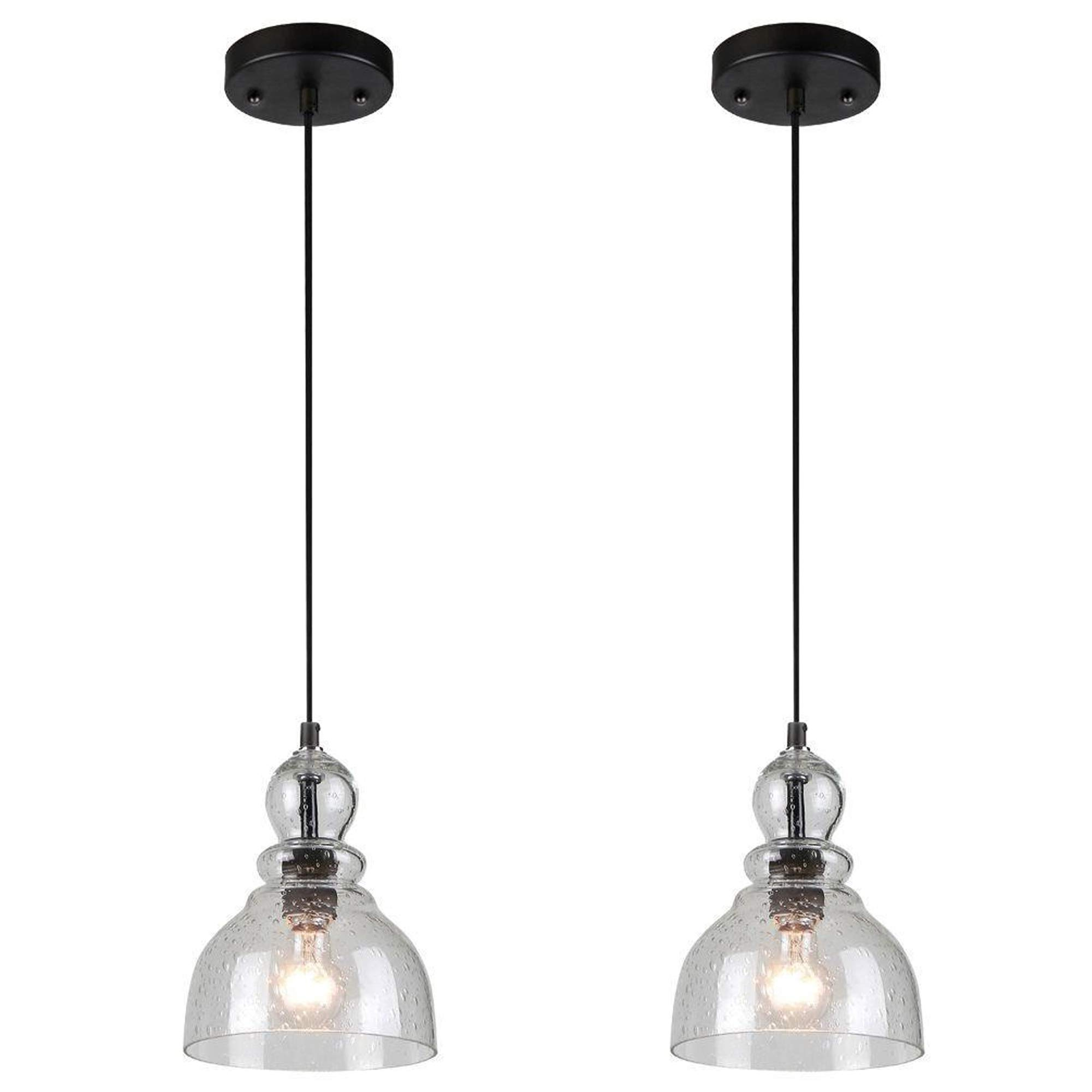 1 light mini pendant rubbed bronze with clear hand blown glass*