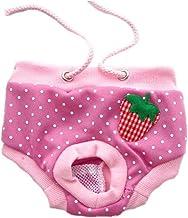 Nobrand Comfortable Female Dog Bitch Mating Season Pants Knickers Nappy Hygiene Pattern S M L XL (XL, Pink Dot)