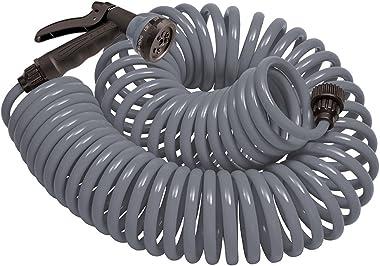 Orbit 26382 Coil Garden Hose, 25 ft, Gray