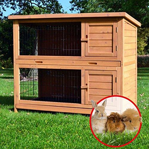 Zooprimus Kaninchenstall 05 Hasenkäfig – HOPPEL – Stall für Außenbereich (für Kleintiere: Hasen, Kaninchen, Meerschweinchen usw.) - 2