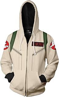 Unisex Venkman Ghoul Hunter Hoodie 3D Printed Backpack Zip Up Jackets Coat