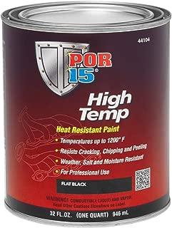 POR-15 44104 Black High Temperature Paint Flat - 1 quart