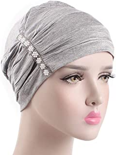 Allywit Women's Chemo Hat Ruffle Turban Headband for Cancer Patients