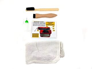 Manual Typewriter Cleaning and Care Kit - 2 Typewriter Brushes, Typewriter Oil, Cotton Cloths, Care and Cleaning Card