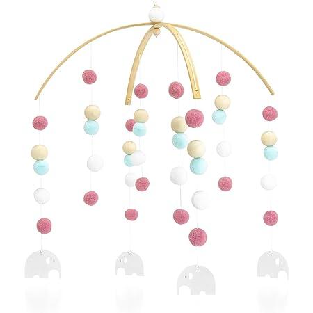 elmo ベッドメリー メリー モビール 赤ちゃん おもちゃ 出産祝い 新生児 ベビーメリー プレゼント 人気 北欧風 木製 オーガニックコットン 吊り下げ式