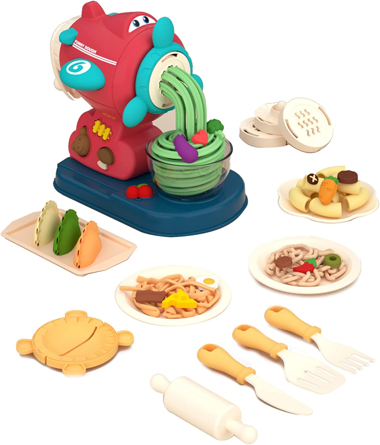 Noodle Machine Toy Shape Play Dough Kitchen Creation Noodle Party Play 3 Year Old Children Food Set Non-Toxic Compound Color