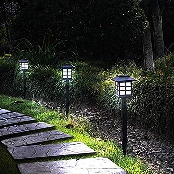 12-Pack Otdair Waterproof Outdoor LED Solar Pathway Lights