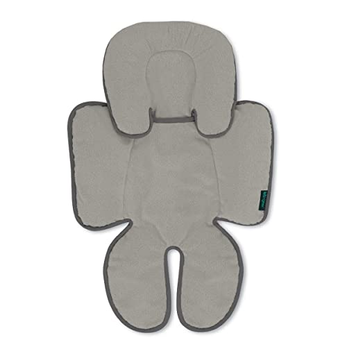 Lebogner Head and Body Support Pillow, Infant to Toddler Head, Neck, and Body Cushion Perfect for Car Seats and Strollers, Detachable Head for Versatility As The Baby Grows, Grey