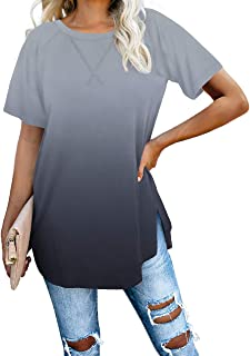 Best Long Sleeve Loose Pullover Tunic Tops Side Split Plain Shirts Review