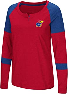 Kansas Jayhawks KU Ladies Long Sleeve Raglan Dorothy Tee