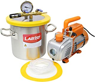 1 1/2 Gallon Vacuum Degassing Chamber Kit with 2.5 CFM Vacuum Pump - Not for Wood Stabilizing