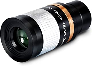 Telescope Zoom Eyepiece,1.25 Inch 8-24mm Metal Multi Coated Optic Lens for Astronomic Telescopes