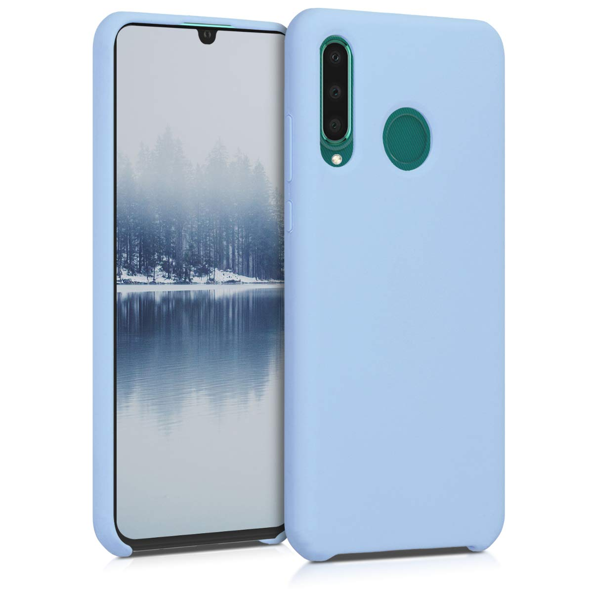 kwmobile TPU Silicone Case Compatible with Huawei P30 Lite - Case Slim Protective Phone Cover with Soft Finish - Light Blue Matte