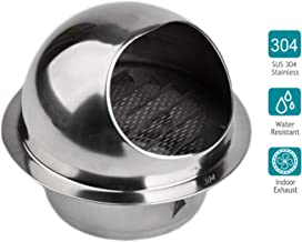 HG POWER 304 Stainless Steel Air Vent Round Grille Ventilation Cover Wall Vent Outlet 6 Inch