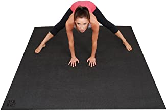 Square36 Super Large Yoga Mat 6 Ft x 6 Ft. Made in Germany Using The Highest Grade, Certified & Tested Least Toxic Materials. Designed for Barefoot Home Yoga, Pilates, Meditation & Rehabilitation.