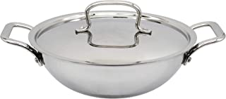 Trilonium Triply Stainless Steel Kadhai with Lid (5.2 litres | 30cms)
