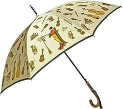 NOBEL(ノーベル) レディース 雨傘 長傘 日本製 ジャンプ式 ワンタッチ 親骨60cm 甲州産ほぐし織り使用 楽器柄