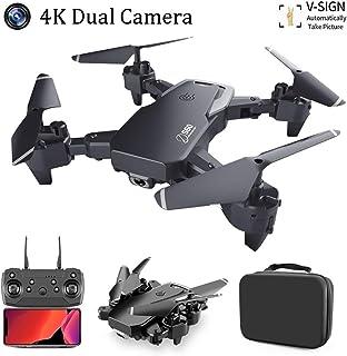 SBUNA 4K Ultra HD Drone con Cámara Ajustable Cnmutación de Doble Disparo Profesional 2.4G WiFi FPV App Teledirigido Control de Gestos Drones Altitude Hold Modo Sin Cabeza y Retorno
