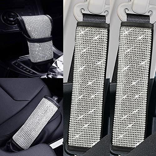 Bling Bling - Funda para palanca de cambios de coche con cristales brillantes, accesorios para decoración de coche para...