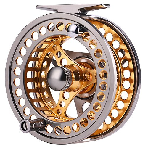 Fly Fishing Reel Large Arbor 2+1 BB with CNC-machined Aluminum Alloy Body and Spool in Fly Reel Sizes 5/6
