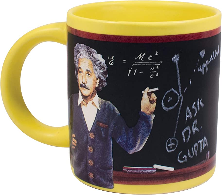 Albert Einstein S Blackboard Coffee Mug With Chalk And Working Chalkboard Surface Sketch Equations Comes In A Fun Gift Box