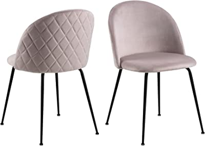 Cooper & Co. Living Luna Dining Chairs Set of 2, Light Pink