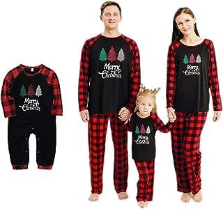 Haokaini Pyjamas de Noël Vêtements de Nuit pour la Famille Chemise de Nuit de Noël pour Bébé Enfants Filles Garçons Parent...