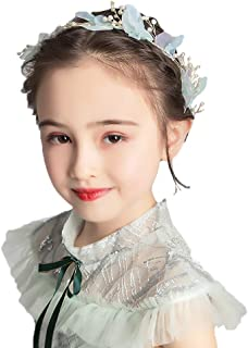 إكسسوار شعر أميرة لطيف مع تاج زهور حريرية بلون ذهبي لؤلؤي من كامبسيس، إكسسوار للشعر مخصص للمشاركة الأولى للفتيات