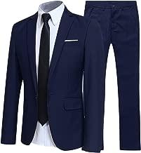 YFFUSHI Slim Fit 2 Piece Suit for Men One Button Casual/Formal/Wedding Tuxedo