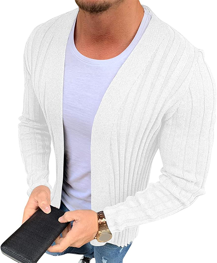 Mens Cardigan Sweaters Ranking TOP17 Long Selling Sleeve Front Cardigans Open Knit wit