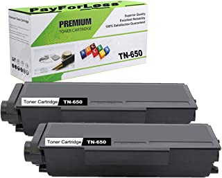 PayForLess Compatible TN650 TN-650 Toner Cartridge Black 2PK for Brother HL-5340d HL-5350dn HL-5370dw DCP-8085dn DCP-8080dn MFC-8480dn MFC-8890dw MFC-8680dn MFC-8690dw