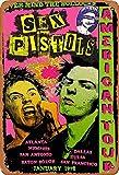 No/Brand Sex Pistols American Tour Metall Blechschild Retro