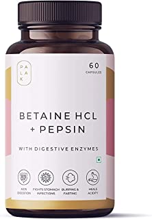 Dharma Palak Notes: Betaine HCL Pepsin with Pepsin Plus, Digestive enzymes for a Healthier Gut, Digestion, Acidity Problem...