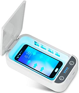 UV Phone Sterilizer Box, Portable UV Light Sterilizer with USB Charging Compatible, Cell Phone UV Sanitizer for iOS Androi...