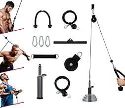 Kacsoo Fitness Kabel Katrol Systeem Thuis Gym Apparatuur Workout Accessoires voor Lat Pull Downs, DIY Katrol Kabel Machine...