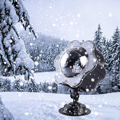 Proiettore Luci Natale Esterno & Interno [Nuova Versione] IP65 Faretti LED Illuminazione con 12 Lenti & Telecomando RF Decorazione Giardino & Casa per Natale/Compleanno/San Valentino/Matrimonio