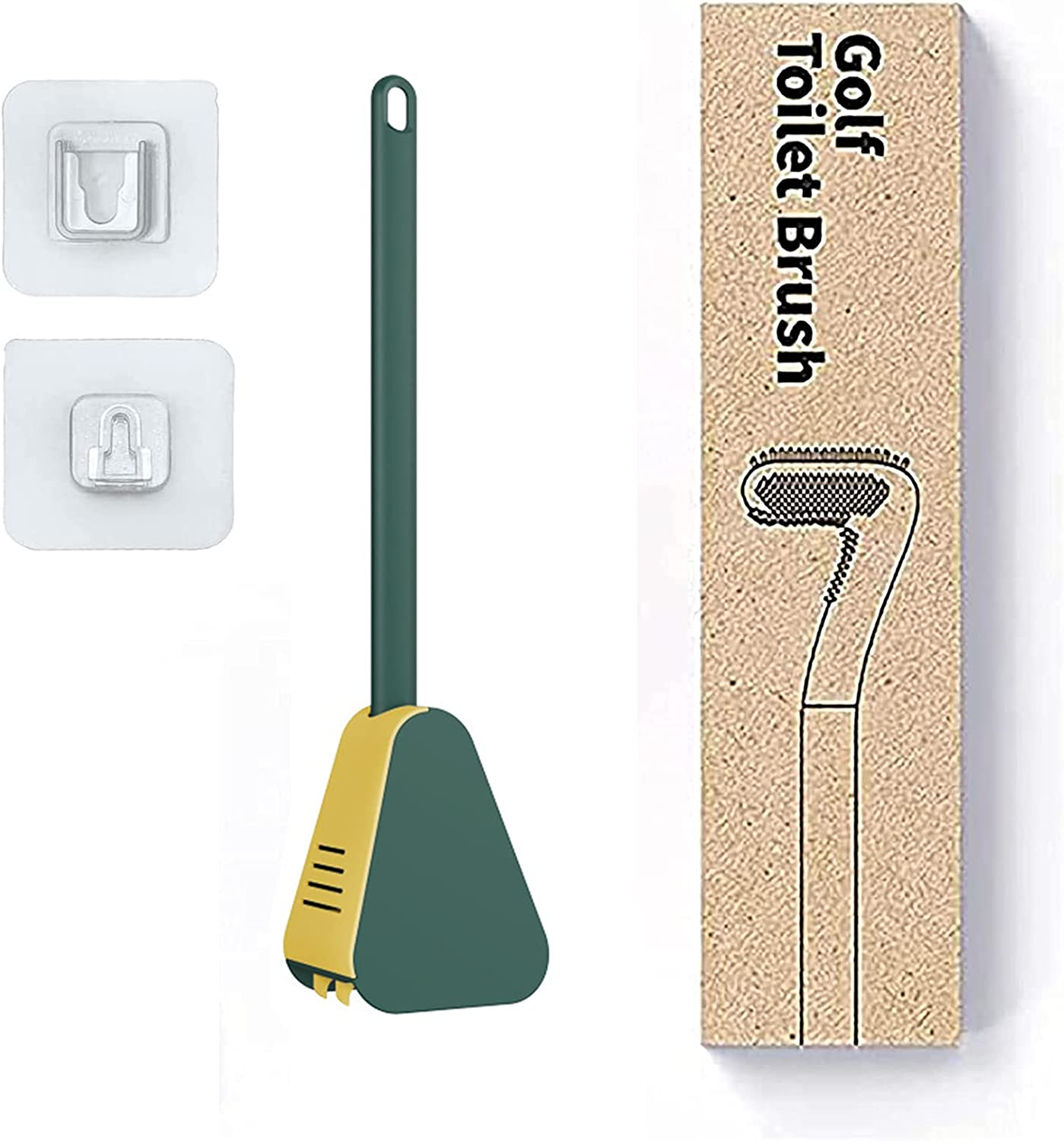 Max 84% OFF Golf Toilet Brush and excellence Holder Mounted Set Wall B Silicone