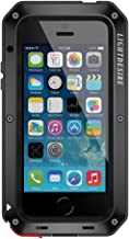 iPhone 5SE Case, Metal Aluminum Alloy Protective Extreme Water Resistant LIGHTDESIRE Shockproof Military Bumper Heavy Duty Cover Shell - Black