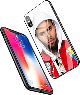 LiangChu 9H Tempered Glass iPhone XR Cases, LC-122 Chris Brown Breezy Design Printing Shockproof Anti-Scratch Soft Silicone TPU Cover Phone Case for Apple iPhone XR