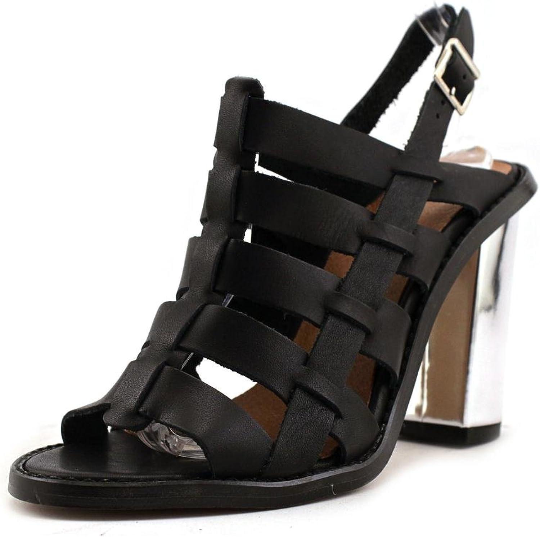 Sextio gånger 75936 Kvinnor Kvinnor Kvinnor US 7.5 svart Slingback Heel  hög kvalitet och snabb frakt