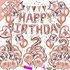 風船 誕生日 飾り付け セット(66 点)数字バルーン (1-3) happy birthday バルーン ローズゴールド パーティー 装飾 バースデー デコレーション セット きらきら風船 パーティー お祝い 【G&H】