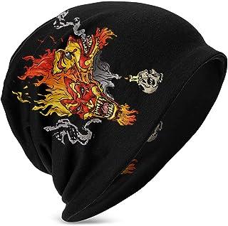 Hdadwy Beanie Hat Insane Clown Posse Gorro de Punto con puños y Calavera Fina para niños y niñas, Color Negro