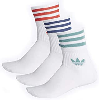 adidas, Mid Cut CRW Sck Socks, Hombre