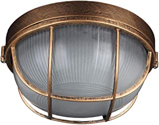 Retro Ceiling Round Wall Light - Waterproof Outdoor Lamp Porch Home Lighting Living Room