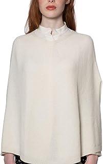 Cashmere Island- Poncho Donna 100% Cashmere Naturale- Made in Italy- Morbido ed Elegante- Lavorato da Mani Esperte con Mat...